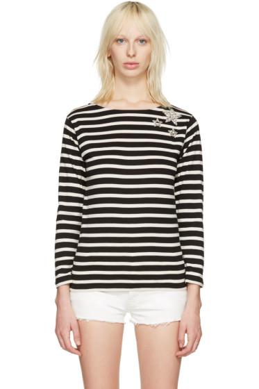Saint Laurent - Black Striped Marlon T-Shirt
