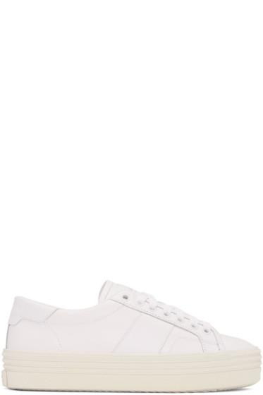 Saint Laurent - Off-White SL/39 Court Classic Platform Sneakers