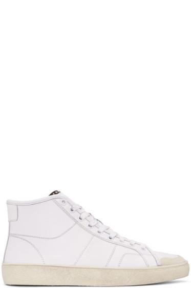 Saint Laurent - White SL/37M Court Classic Sneakers