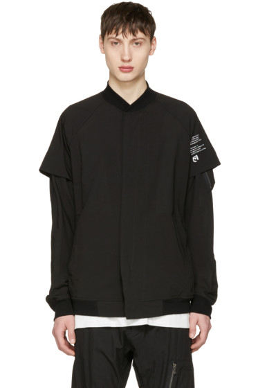 Julius - Black Panelled Bomber Jacket