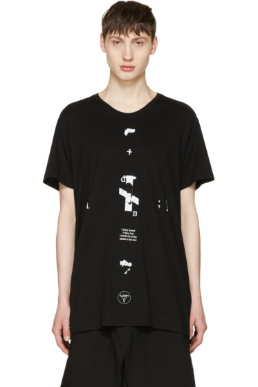 Julius - Black 'Downwards' T-Shirt