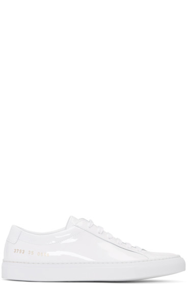 Woman by Common Projects - White Achilles Low Gloss Sneakers
