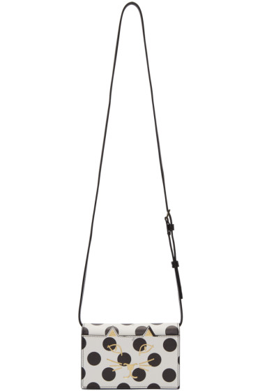 Charlotte Olympia - White Polka Dot Feline Bag