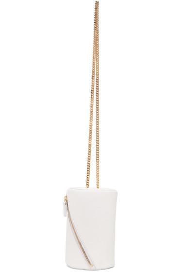 MSGM - White Geometric Shoulder Bag