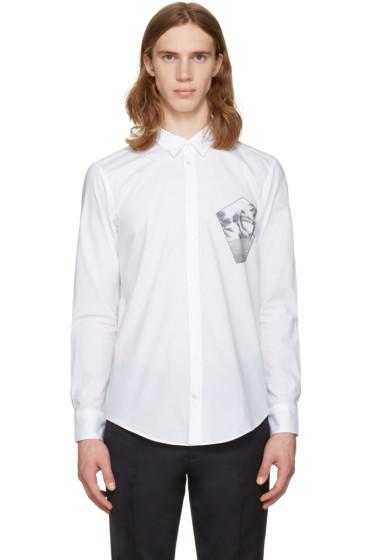 MSGM - White Skateboarder Shirt