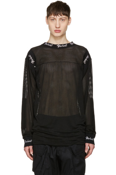 KTZ - Black Embroidered Mesh Pullover