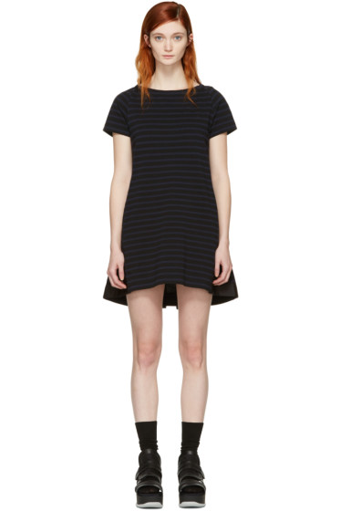 Sacai - Black Striped Dixie Dress
