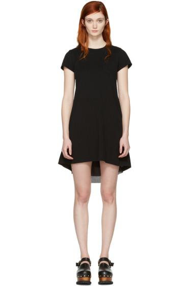 Sacai - Black Fan Back Dress