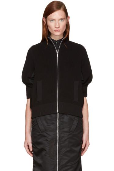 Sacai - Black Knit Jacket