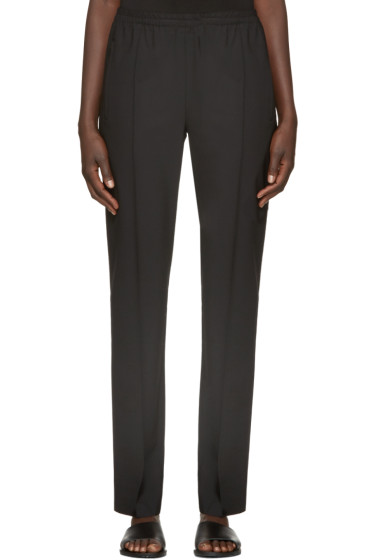 6397 - Black Wool Track Trousers