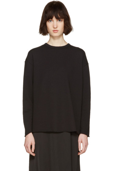 6397 - Black Rolled Pullover
