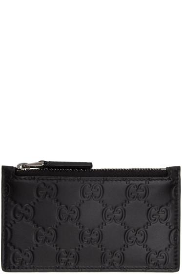 Gucci - Black GG Avel Zip Card Holder
