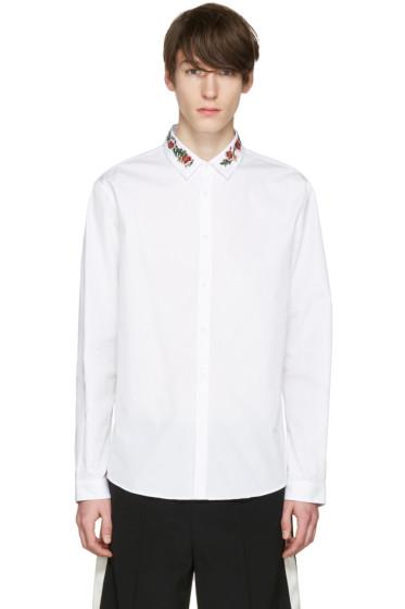 Gucci - White Floral Collar Shirt