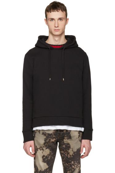 Gucci - Black Cable Knit Trim Hoodie