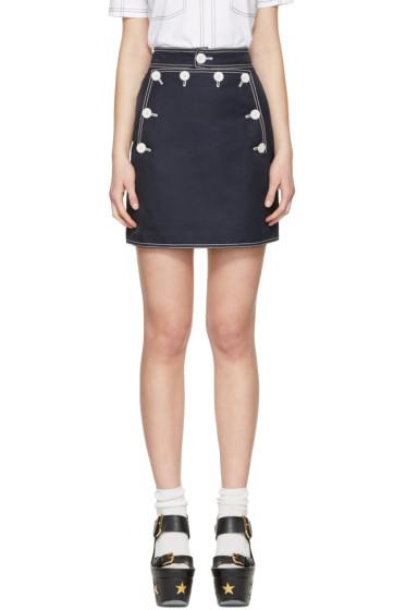 Stella McCartney - Navy Buttoned Miniskirt