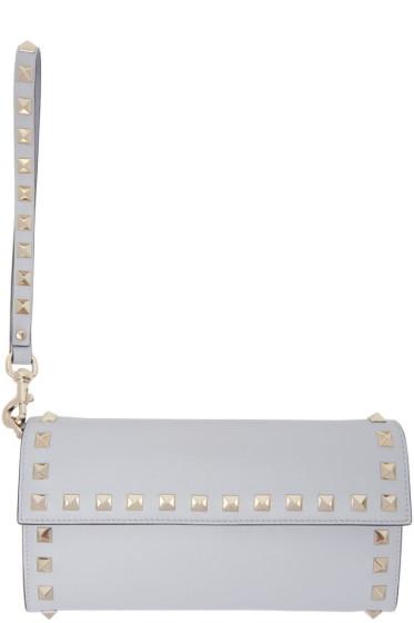 Valentino - Grey Rockstud Flap Wallet