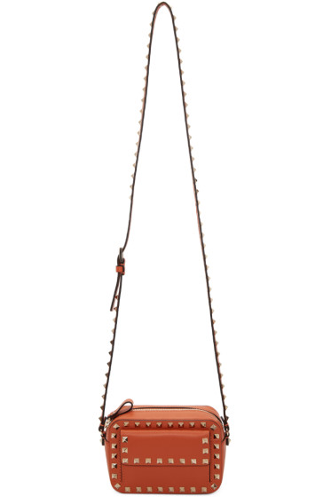Valentino - Orange Small Rockstud Crossbody Bag