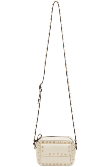 Valentino - Ivory Small Rockstud Crossbody Bag
