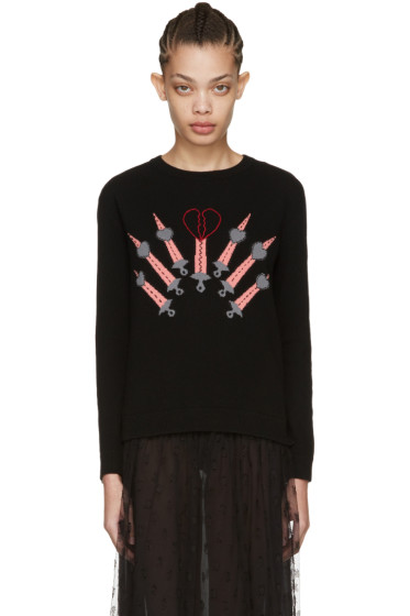 Valentino - Black Love Blade Sweater