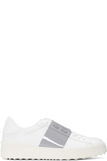 Valentino - White & Grey Open Sneakers