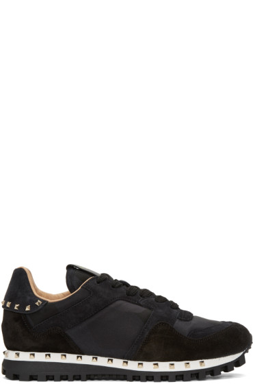 Valentino - Black Camo Soul Stud Sneakers
