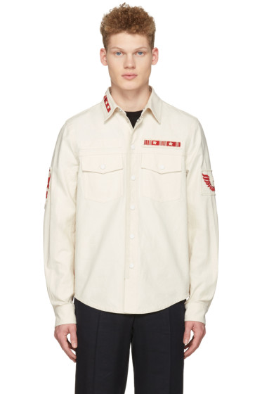 Valentino - Ecru Patched Field Jacket