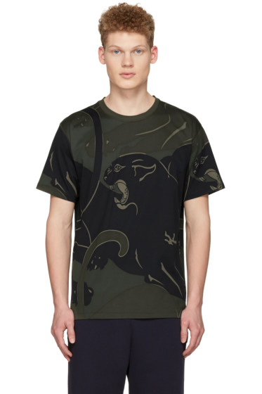 Valentino - Green Camo Panther T-Shirt