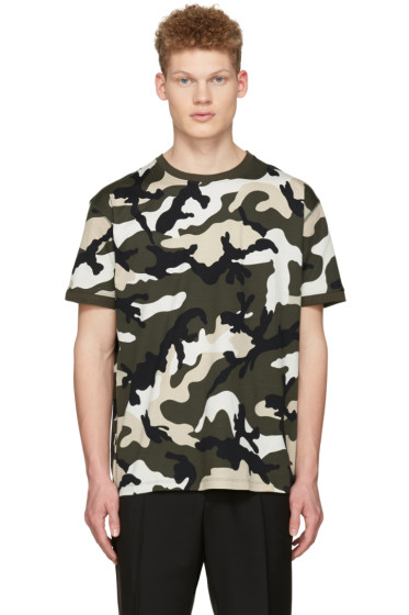Valentino - Green New Camo T-Shirt