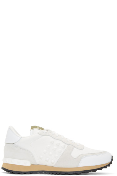 Valentino - White Rockstud Sneakers