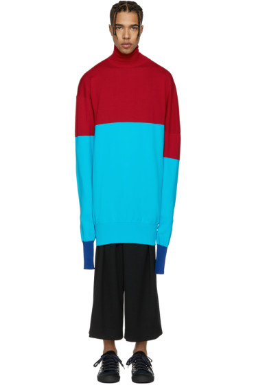J.W.Anderson - Red & Blue Turtleneck