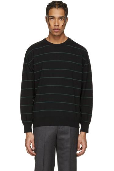 AMI Alexandre Mattiussi - Black & Green Striped Sweater