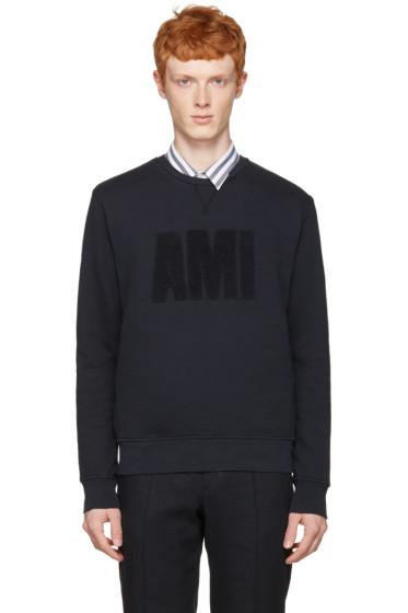 AMI Alexandre Mattiussi - Navy 'Ami' Pullover