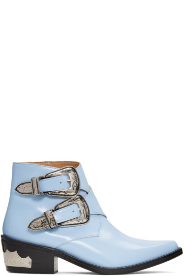 Toga Pulla - Blue Double-Buckle Boots