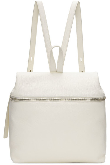 Kara - Off-White Large Leather Backpack