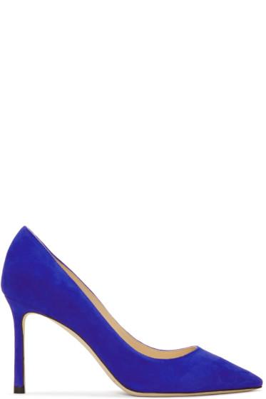 Jimmy Choo - Blue Suede Romy Heels