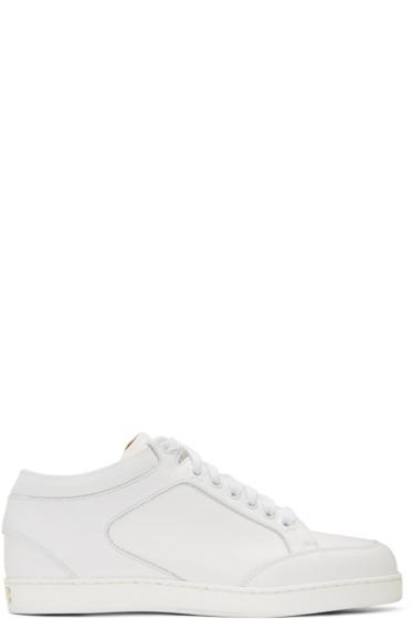 Jimmy Choo - White Miami Sneakers