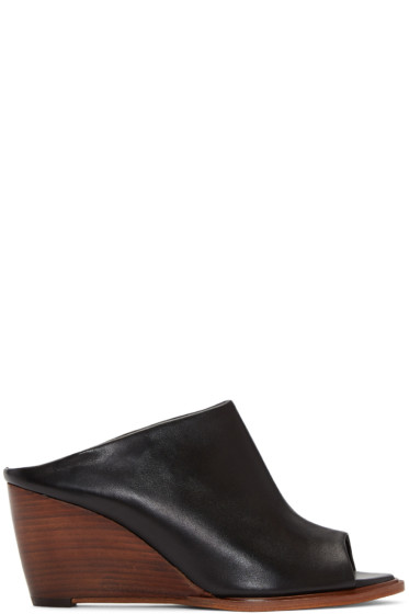 Robert Clergerie - Black Gule Wedge Sandals