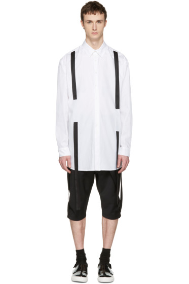 D.Gnak by Kang.D - White Straps Shirt