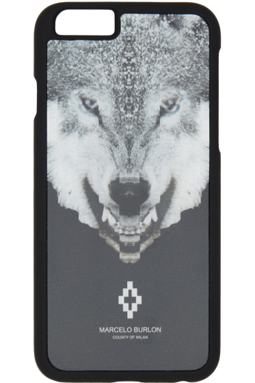 Marcelo Burlon County of Milan - Black Marcos iPhone 6 Case