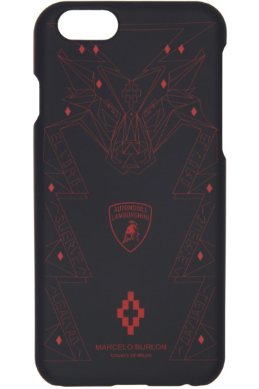 Marcelo Burlon County of Milan - Black Lamborghini iPhone 6 Case