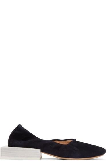 Jacquemus - Navy Suede 'Les Ballerines' Flats