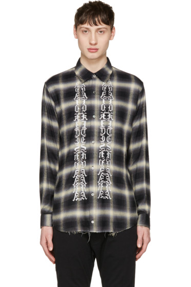 Christian Dada - Black Check Signature Shirt