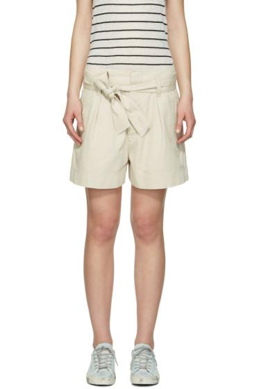 Isabel Marant Etoile - Ecru Belted Oscar Shorts