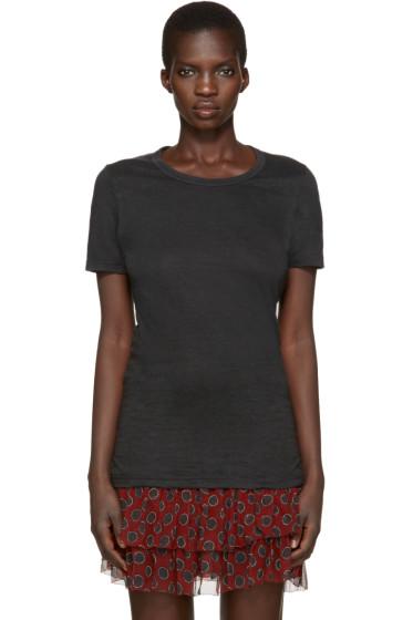 Isabel Marant Etoile - Black Linen Kiliann T-Shirt