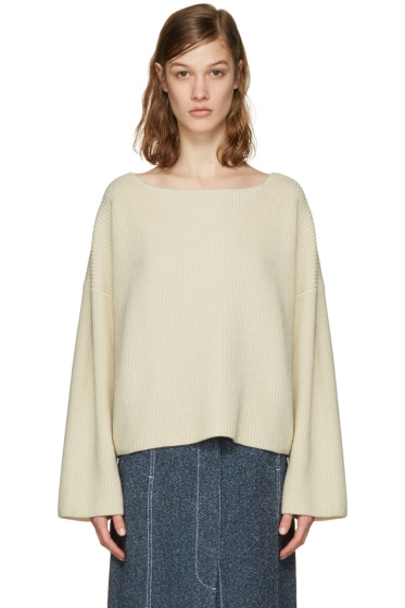 Isabel Marant - Ecru Oversized Fly Sweater