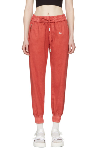 Off-White - Red Slim Track Pants