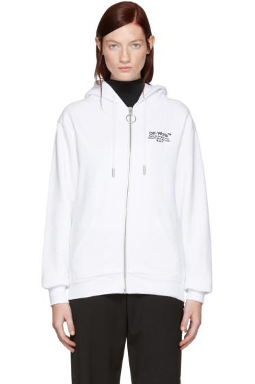 Off-White - White Off Zip Hoodie