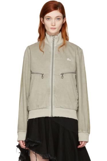 Off-White - Taupe Slim Track Jacket