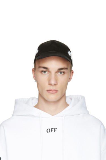 Off-White - Black Diagonal Spray Cap