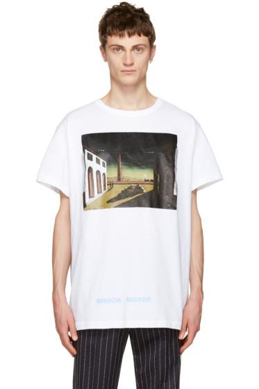 Off-White - White Silver Chirico T-Shirt